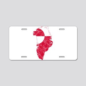 Greenland Flag And Map Aluminum License Plate