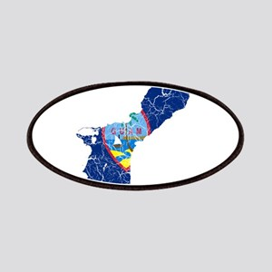 Guam Flag And Map Patches