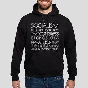 Socialism Is Brilliant Hoodie (dark)