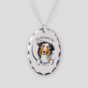 Australian Shepherd IAAM Necklace Oval Charm