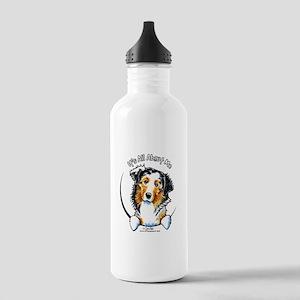Australian Shepherd IAAM Stainless Water Bottle 1.