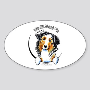 Australian Shepherd IAAM Sticker (Oval)
