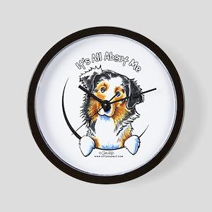 Australian Shepherd IAAM Wall Clock