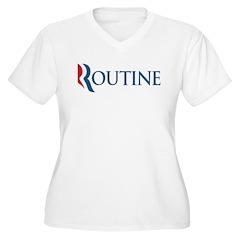 Anti-Romney Routine Women's Plus Size V-Neck T-Shi