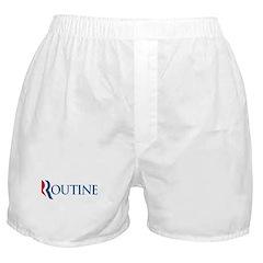 Anti-Romney Routine Boxer Shorts