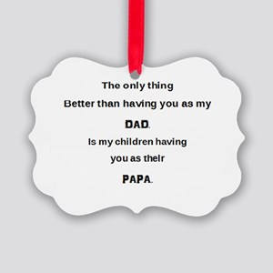 Dad / Papa Picture Ornament