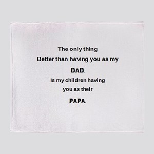 Dad / Papa Throw Blanket