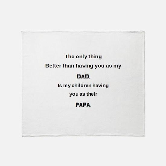 Dad / Papa Throw Blanket