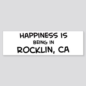 Rocklin - Happiness Bumper Sticker