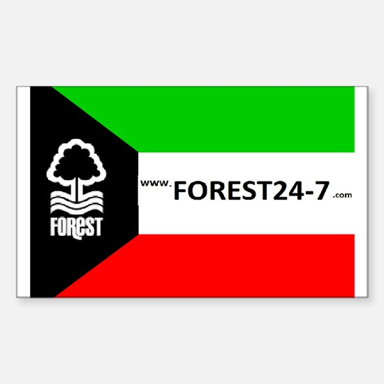 Kuwait Forest Sticker (Rectangle)
