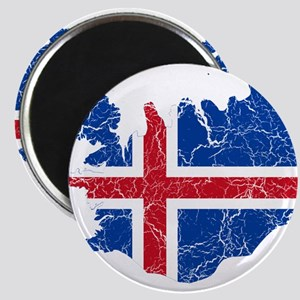 Iceland Flag And Map Magnet