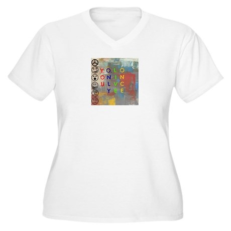 Y.O.L.O Women's Plus Size V-Neck T-Shirt