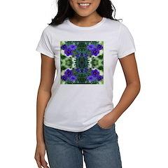 Blue Flower Reflection Women's T-Shirt
