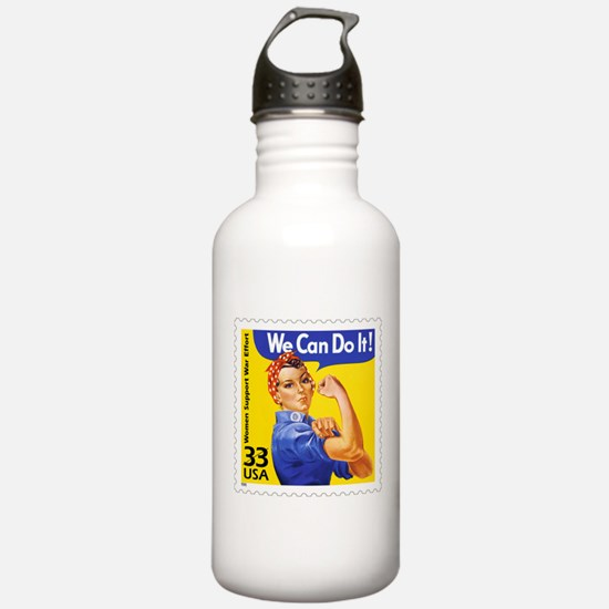 Rosie the Riveter Stamp Water Bottle