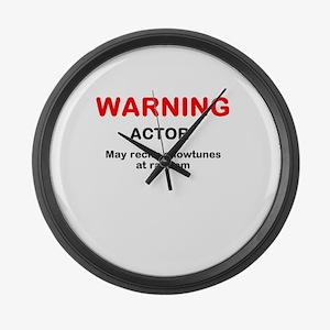 WARNING Large Wall Clock