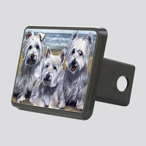 Three Westies Rectangular Hitch Cover