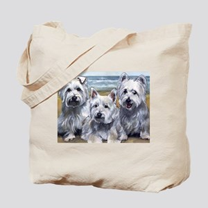 Three Westies Tote Bag