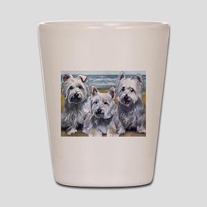 Three Westies Shot Glass