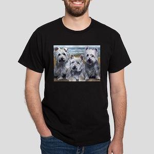 Three Westies Dark T-Shirt