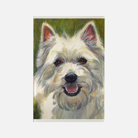 Happy Westie Rectangle Magnet
