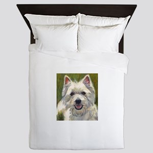Happy Westie Queen Duvet