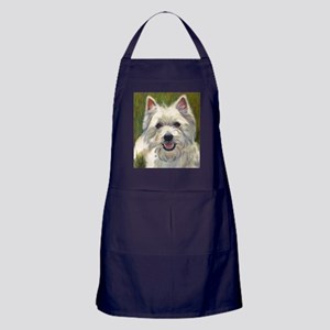 Happy Westie Apron (dark)