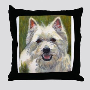 Happy Westie Throw Pillow