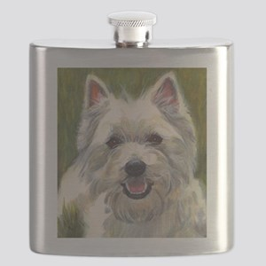 Happy Westie Flask