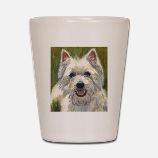Happy Westie Shot Glass