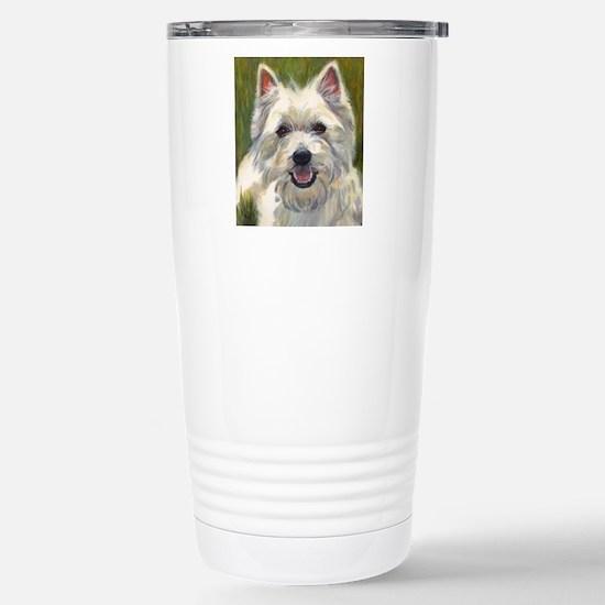 Happy Westie Stainless Steel Travel Mug