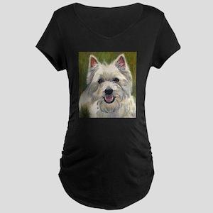 Happy Westie Maternity Dark T-Shirt