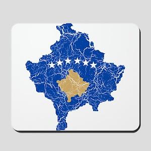 Kosovo Flag And Map Mousepad