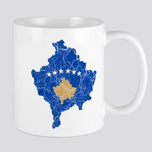 Kosovo Flag And Map Mug