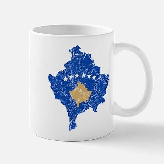 Kosovo Flag And Map Mug