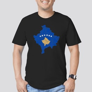 Kosovo Flag And Map Men's Fitted T-Shirt (dark)