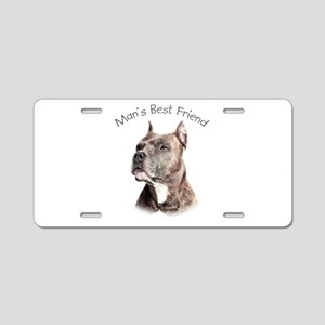 Man's Best Friend Aluminum License Plate