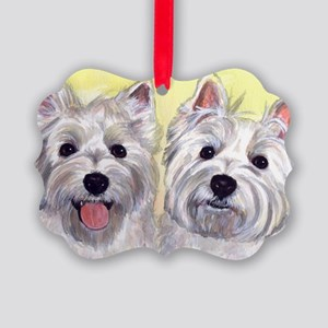 Two Westies Picture Ornament