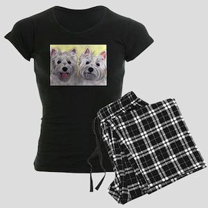 Two Westies Women's Dark Pajamas