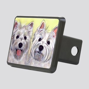 Two Westies Rectangular Hitch Cover