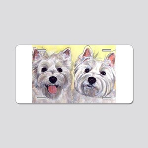 Two Westies Aluminum License Plate