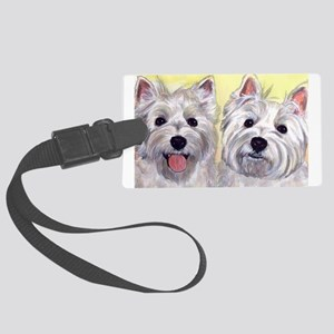 Two Westies Large Luggage Tag