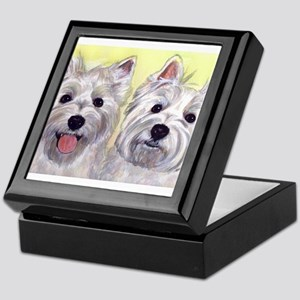 Two Westies Keepsake Box