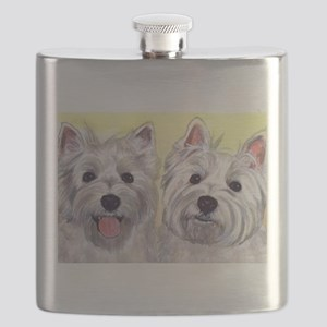 Two Westies Flask