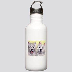 Two Westies Stainless Water Bottle 1.0L