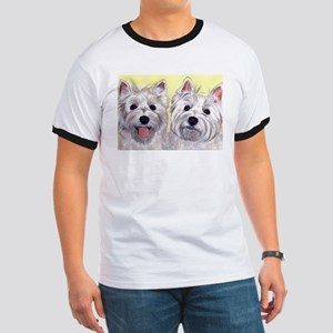 Two Westies Ringer T