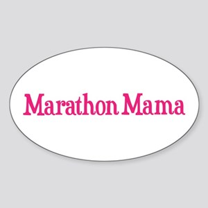 Marathon Mama Sticker (Oval)