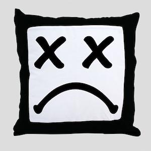 Smiley sad Throw Pillow