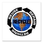 Recycle World Square Car Magnet 3