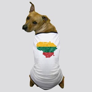 Lithuania Flag And Map Dog T-Shirt