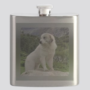 "Great Pyrenees Flask ""Mountain View"""